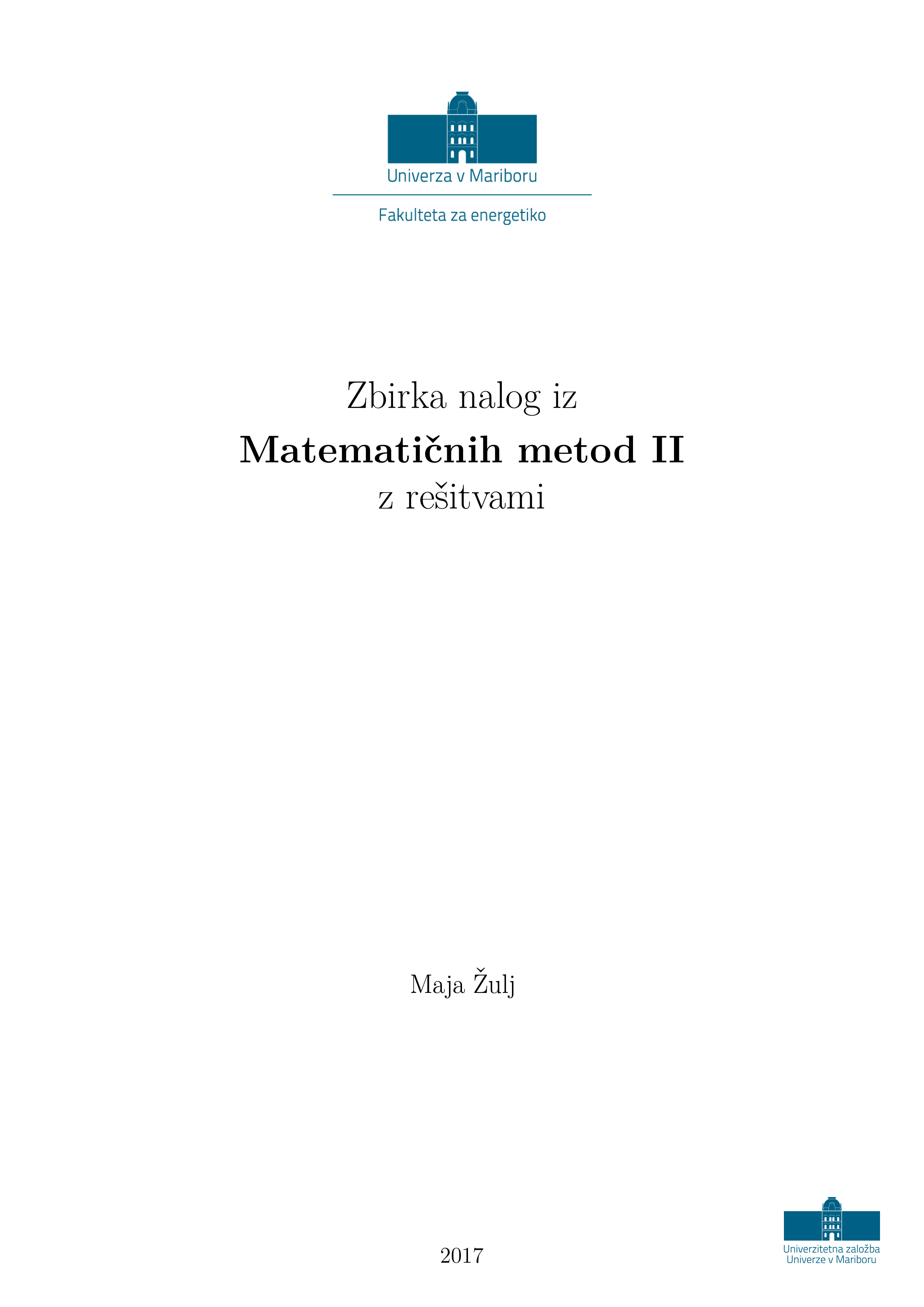 Mathematical methods II - Exercises with solutions
