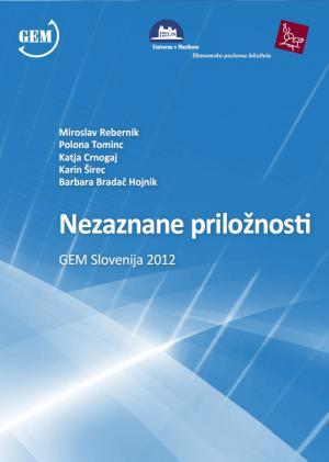 Naslovnica za Nezaznane priložnosti: GEM Slovenija 2012