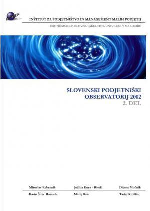Naslovnica za Slovenski podjetniški observatorij 2002. (2. del)