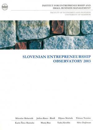 Naslovnica za Slovenian Entrepreneurship Observatory 2003