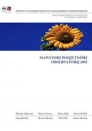 Naslovnica za Slovenski podjetniški observatorij 2005