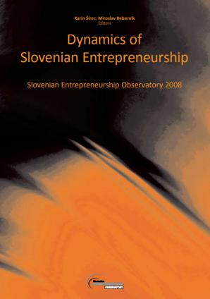 Naslovnica za Dinamičnost slovenskega podjetništva: Slovenski podjetniški observatorij 2008