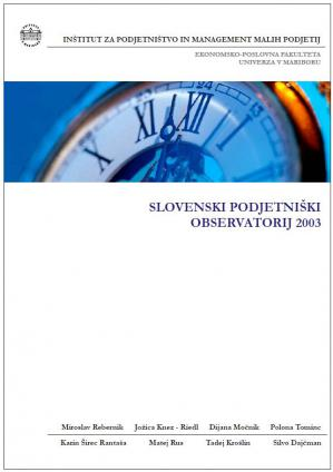 Naslovnica za Slovenski podjetniški observatorij 2003