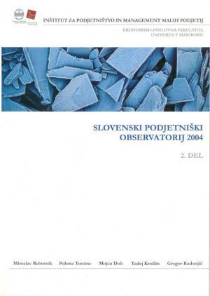 Naslovnica za Slovenski podjetniški observatorij 2004. Del 2