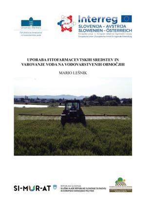 Naslovnica za Uporaba fitofarmacevtskih sredstev in varovanje voda na vodovarstvenih območjih