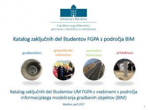 Naslovnica za Katalog zaključnih del študentov FGPA s področja BIM