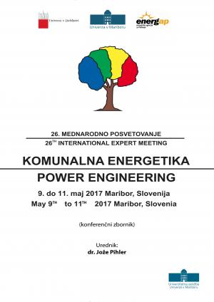 Naslovnica za 26. Mednarodno posvetovanje »Komunalna energetika 2017«: 9. do 11. maj 2017 Maribor, Slovenija