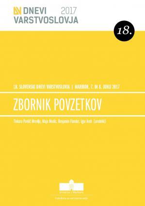 Naslovnica za Zbornik povzetkov / 18. slovenski dnevi varstvoslovja, Maribor, 7. in 8. junij 2017