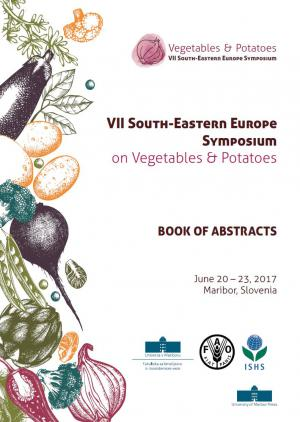 Naslovnica za VII jugovzhodni Evropski simpozij o zelenjavi in krompirju