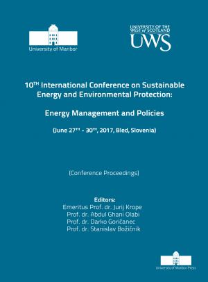 Naslovnica za Energy management and policies: (conference proceedings) / 10th International Conference on Sustainable Energy and Environmental Protection, (June 27th-30th, 2017, Bled, Slovenia)
