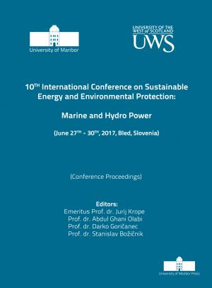 Naslovnica za Marine and hydro power: (conference proceedings) / 10th International Conference on Sustainable Energy and Environmental Protection (June 27th-30th, 2017, Bled, Slovenia)