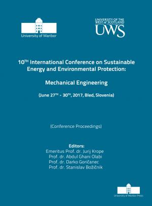 Naslovnica za Mechanical Engineering: (conference proceedings) / 10th International Conference on Sustainable Energy and Environmental Protection, (June 27th-30th, 2017, Bled, Slovenia)