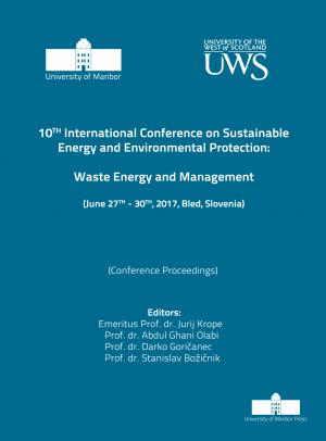 Naslovnica za Waste energy and management : (conference proceedings) / 10th International Conference on Sustainable Energy and Environmental Protection, (June 27th-30th, 2017, Bled, Slovenia)