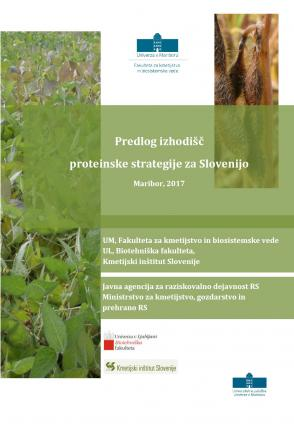 Naslovnica za Predlog izhodišč proteinske strategije za Slovenijo