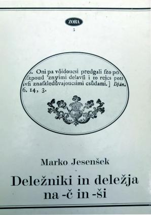 Naslovnica za Deležniki in deležja na -č in -ši