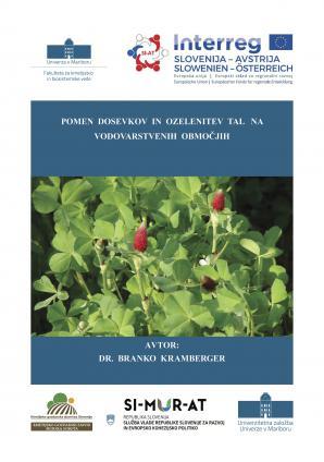 Naslovnica za Pomen dosevkov in ozelenitev tal na vodovarstvenih območjih