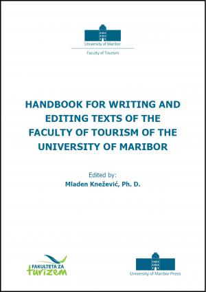 Naslovnica za Handbook for writing and editing texts of the Faculty of tourism of the University of Maribor