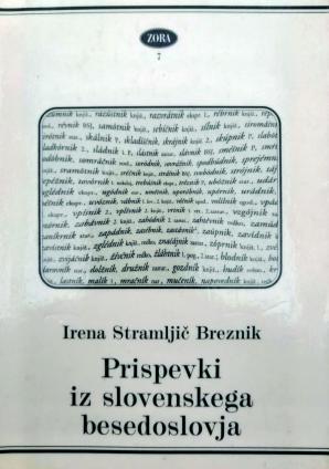 Naslovnica za Prispevki iz slovenskega besedoslovja