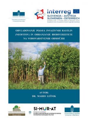 Naslovnica za Obvladovanje pojava invazivnih rastlin (neofitov) in ohranjanja biodiverzitete na vodovarstvenih območjih