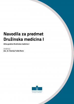 Naslovnica za Navodila za predmet Družinska medicina I