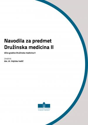 Naslovnica za Navodila za predmet Družinska medicina II