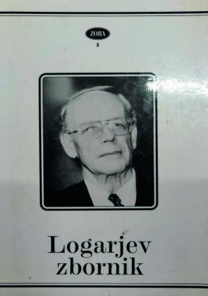 Naslovnica za Logarjev zbornik: referati s 1. mednarodnega dialektološkega simpozija v Mariboru
