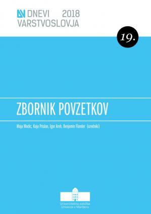 Naslovnica za Zbornik povzetkov / 19. dnevi varstvoslovja, Ankaran, 6. in 7. junij 2018