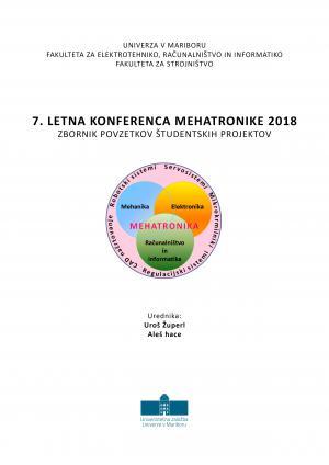 Naslovnica za Zbornik povzetkov študentskih del / 7. letna konferenca mehatronike 2018, Maribor
