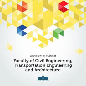Naslovnica za University of Maribor, Faculty of Civil Engineering, Transportation Engineering and Architecture