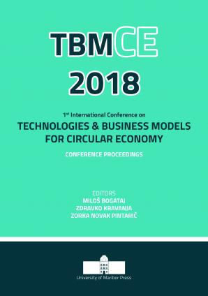 Naslovnica za Conference proceedings / 1st International Conference on Technologies & Business Models for Circular Economy, September, 5th - 7th, 2018, Portorož, Slovenia