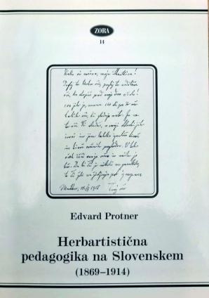 Naslovnica za Herbartistična pedagogika na Slovenskem: (1869-1914)