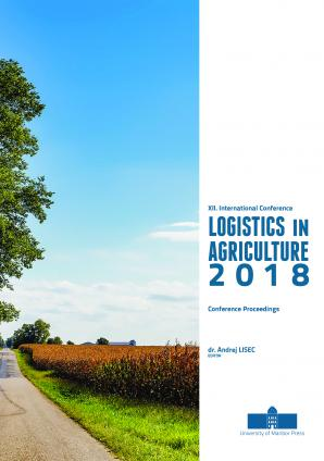 Naslovnica za Conference proceedings / XII. International Conference on Logistics in Agriculture 2018, [Novo mesto, Slovenia, 15 November 2018]