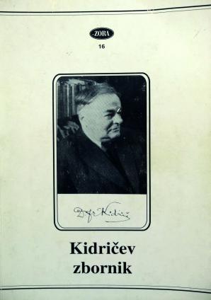 Naslovnica za Kidričev zbornik: gradivo s simpozija v Rogaški Slatini
