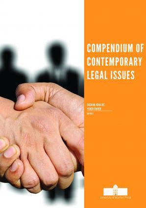 Naslovnica za Compendium of Contemporary Legal Issues
