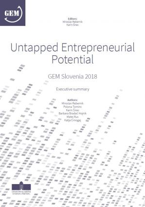 Naslovnica za Untapped entrepreneurial potential: GEM Slovenia 2018, Executive Summary