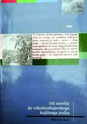 Naslovnica za Od narečja do vzhodnoštajerskega knjižnega jezika