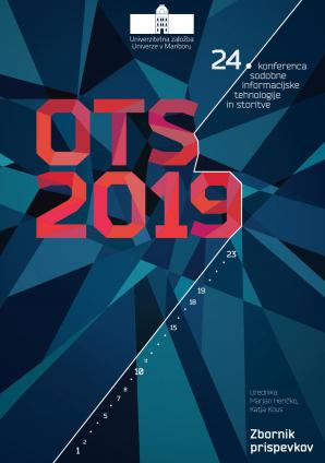 Naslovnica za Sodobne informacijske tehnologije in storitve: OTS 2019: zbornik štiriindvajsete konference, 18. in 19. junij 2019
