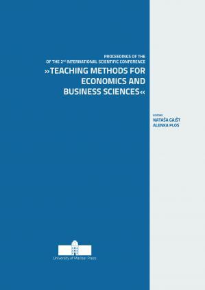 Naslovnica za Knjiga prispevkov 2. mednarodne znanstvene konference: »Učne metode za ekonomske in poslovne vede«