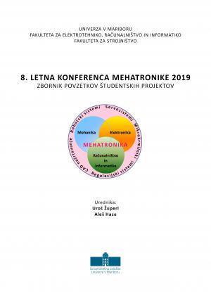 Naslovnica za Zbornik povzetkov študentskih projektov / 8. letna konferenca mehatronike 2019, Maribor