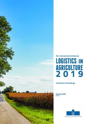 Naslovnica za Conference proceedings / XIII. International Conference on Logistics in Agriculture 2019, Novo mesto, Slovenia, 6. November 2019