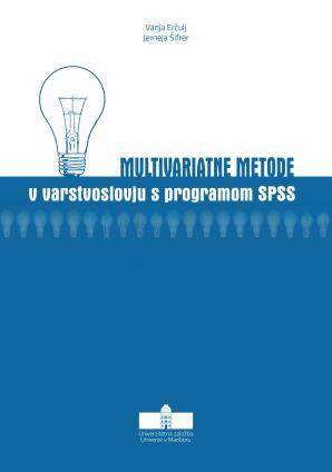 Naslovnica za Multivariatne metode v varstvoslovju s programom SPSS