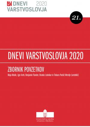 Naslovnica za 21. Dnevi varstvoslovja, Ljubljana, 3. junij 2020: Zbornik povzetkov