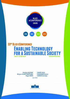 Naslovnica za 33rd Bled eConference – Enabling Technology for a Sustainable Society: June 28 – 29, 2020, Online Conference Proceedings