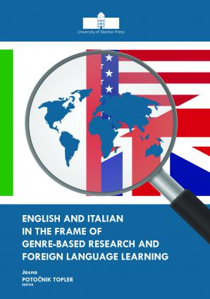 Naslovnica za English and Italian in the Frame of Genre-based Research and Foreign Language Learning
