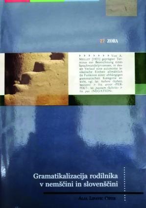 Naslovnica za Gramatikalizacija rodilnika v nemščini in slovenščini