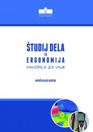 Naslovnica za Študij dela in ergonomija: Navodila za vaje
