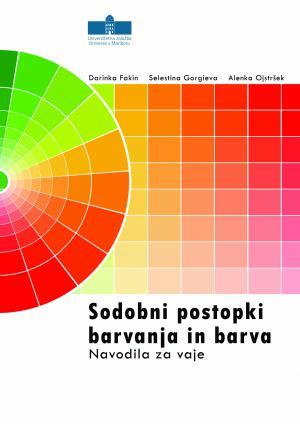 Naslovnica za Sodobni postopki barvanja in barva: Navodila za vaje