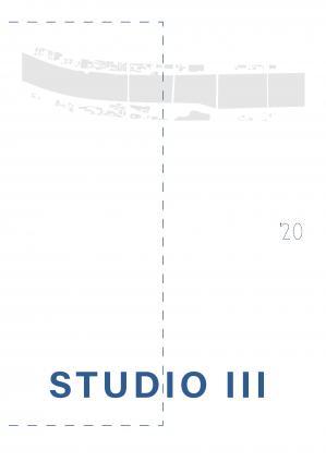 Naslovnica za Studio III 2019-2020: Maribor na Dravi - študentski projekti študijskega programa Arhitektura prve stopnje