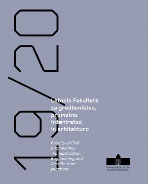 Naslovnica za Letopis Fakultete za gradbeništvo, prometno inženirstvo in arhitekturo 2019/2020
