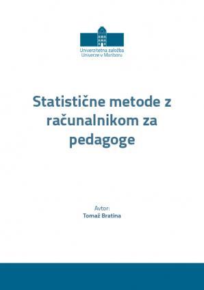 Naslovnica za Statistične metode z računalnikom za pedagoge